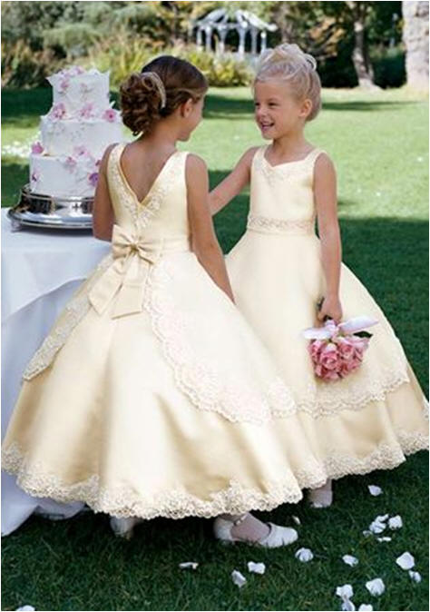 Layered yellow flower girl dress yellow layered flower girl dress mightylinksfo Image collections