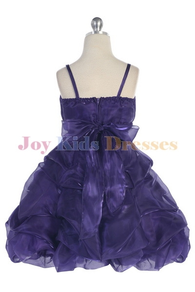 purple back of dress