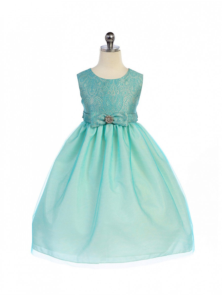girls turquoise easter dress