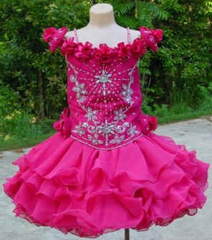 toddler pageant pink dresses