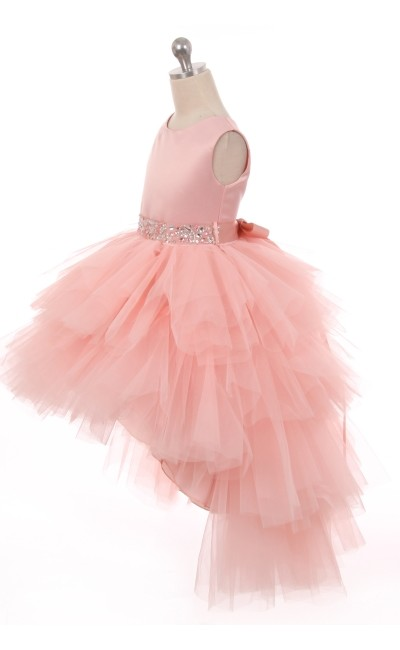 blush flower girl tutu dress