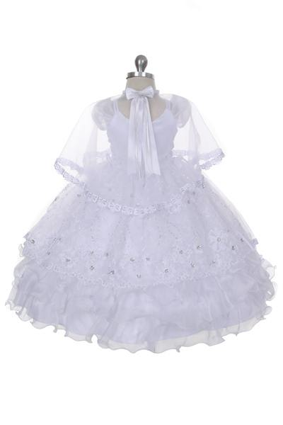 Virgin Mary christening gown with veil