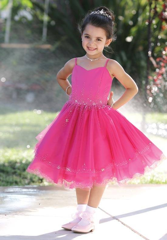 short fuschia pageant dress