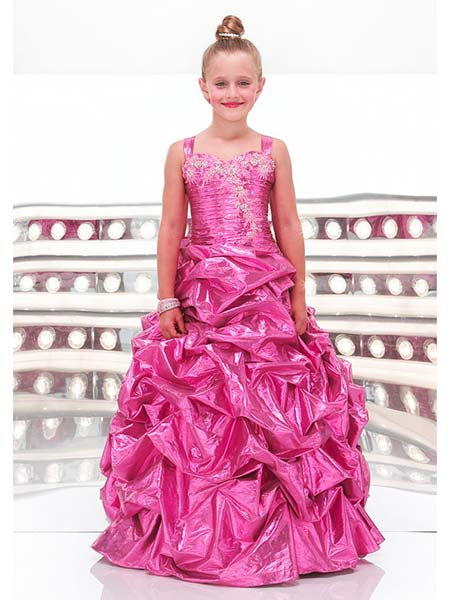 Pink beauty pageant dresses preteens