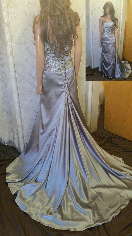 Pewter silk dress