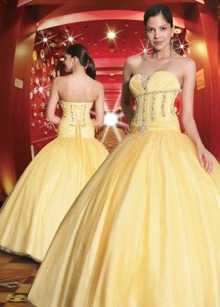 yellow formal prom dress