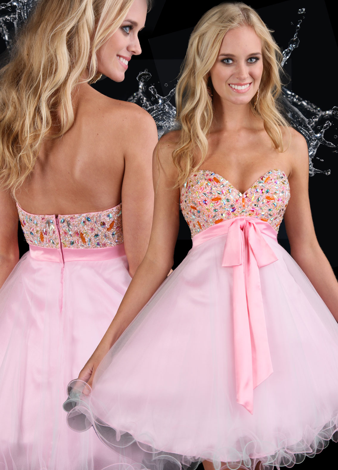 Baby doll Jewel Sweetheart Strapless