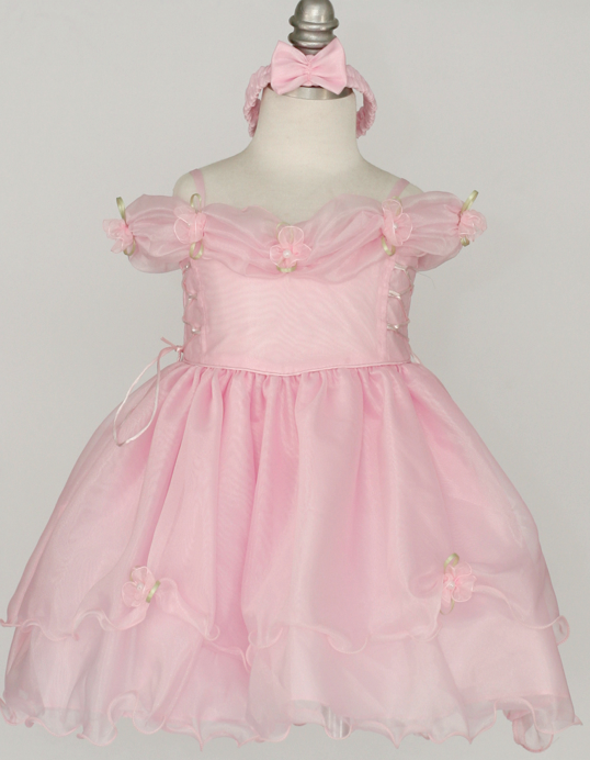 Off the shoulder infant pageant dress
