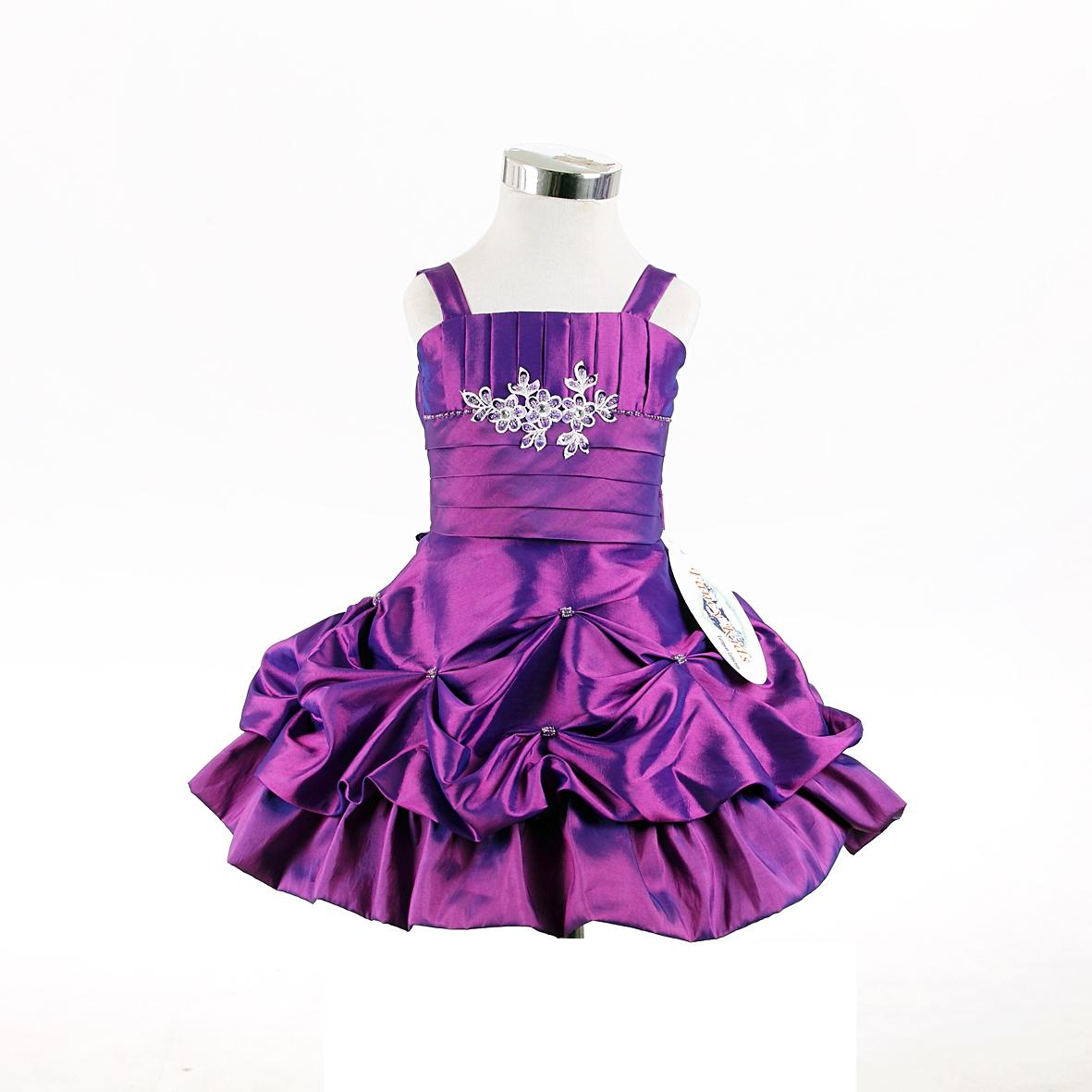 purpe toddler party dress