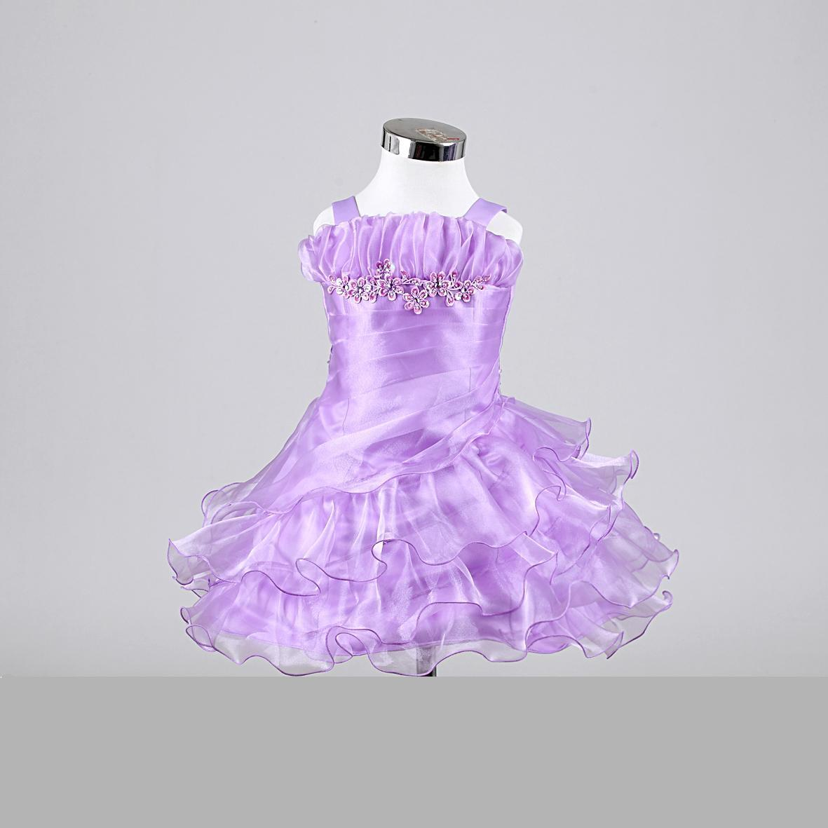 lilac Infant ruffle layers dress