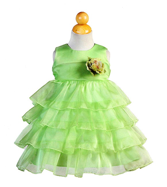 lime green ruffle dress for infants