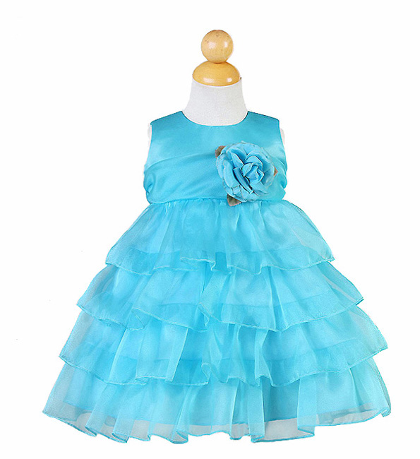 turuoise infant pageant dresses