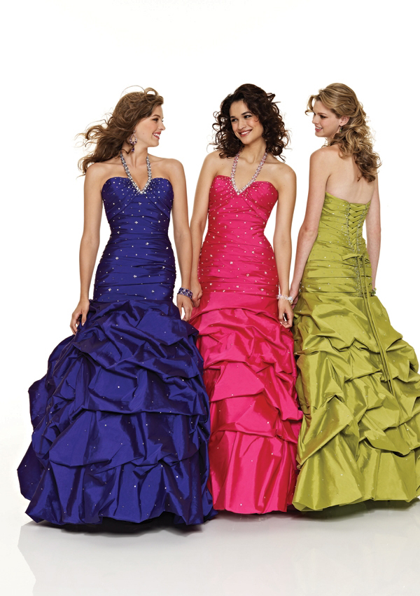 Ladies pageant dresses