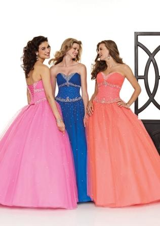 strapless quinceanera ball gowns