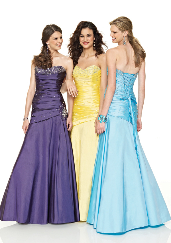 prom dresses purple and silver