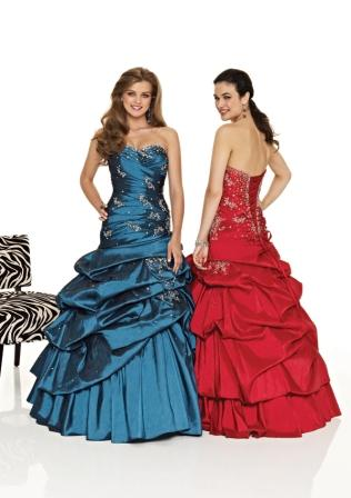 teens ball gown with pickups