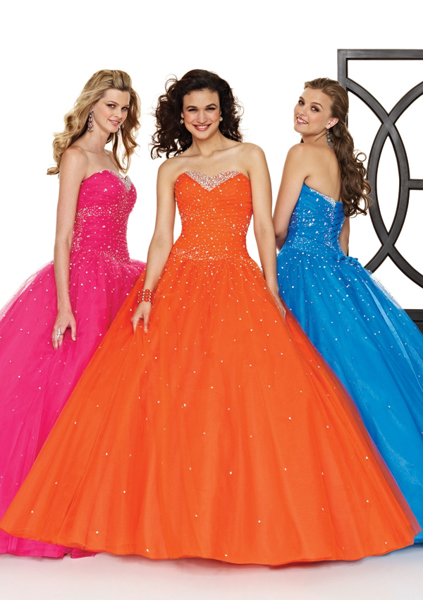 vibrant prom gowns