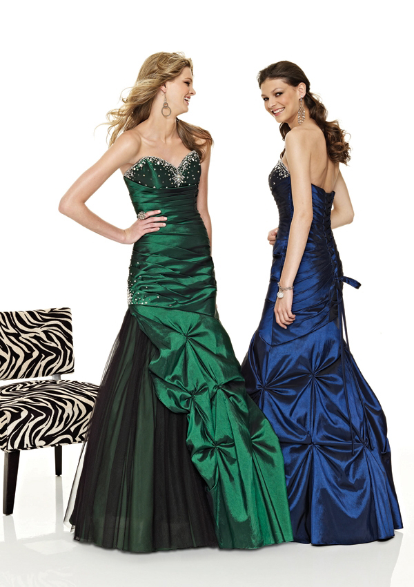 mermaid pickup prom dresses