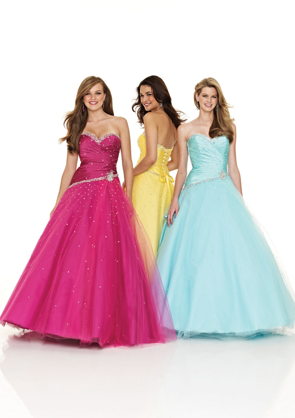 Long Sweetheart prom and pageant dresses