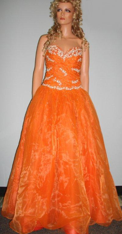 Brilliant colored prom pageant gowns