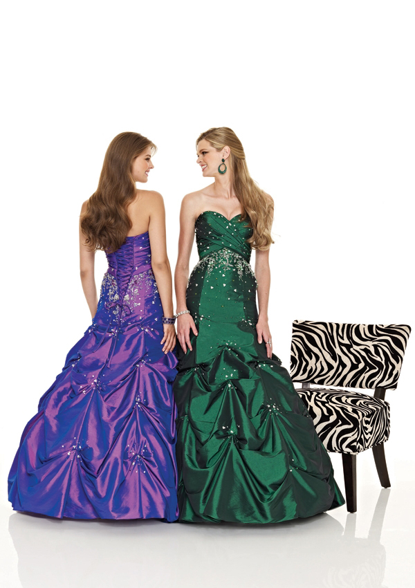 emerald green cinderella prom dress