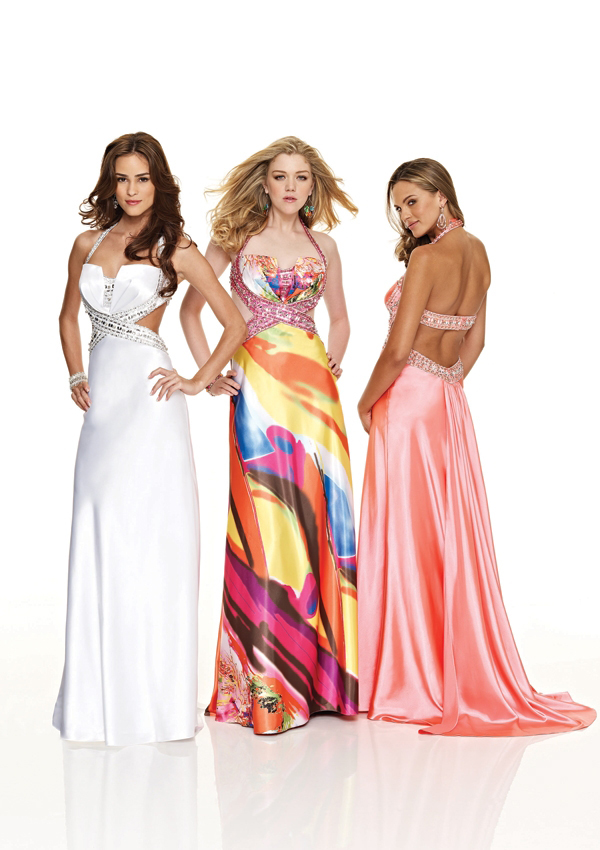 low cut halter gown