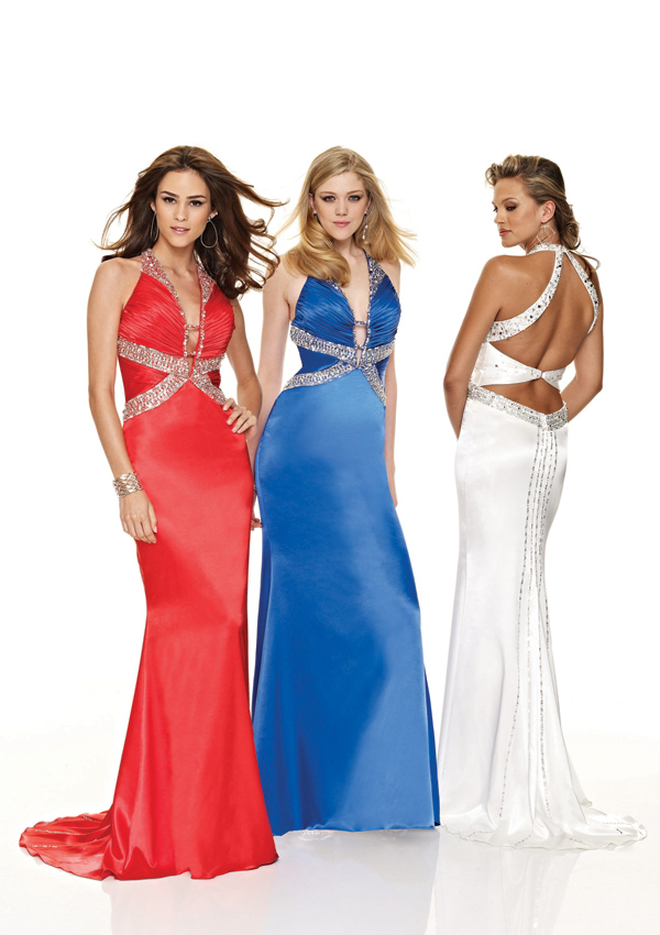 fitted halter gown