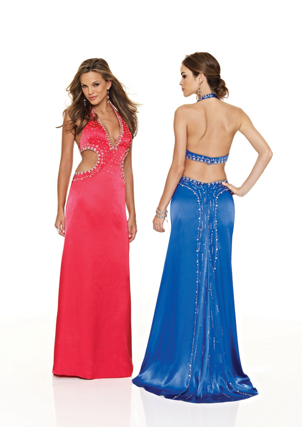 form fitting long gown