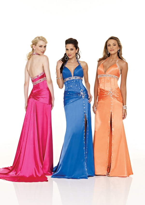 low cut prom dresses