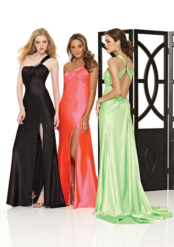 sexy one shoulder prom gown