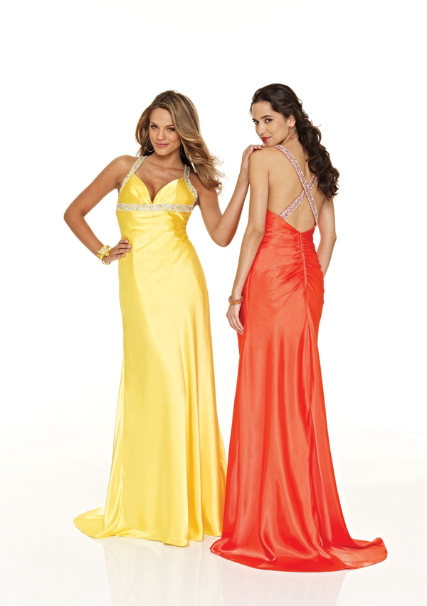 long sexy halter dresses