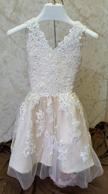 infant lace wedding dress