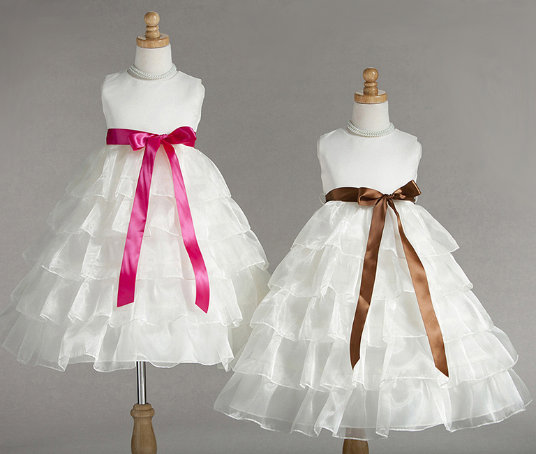 child dress with ruffles