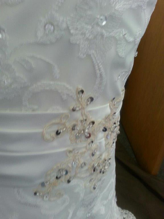miniature lace wedding gown