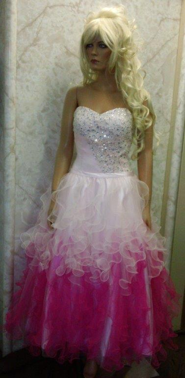 pageant dress with removable ruffle skirt