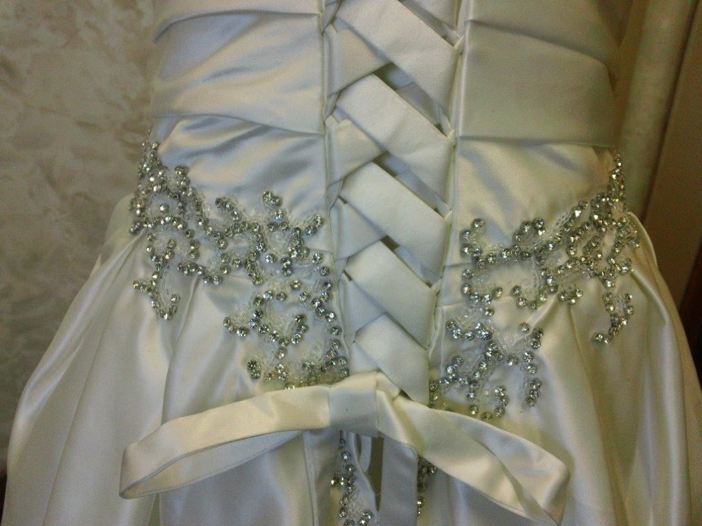 Rhinestone Beaded Flower Girl Dress