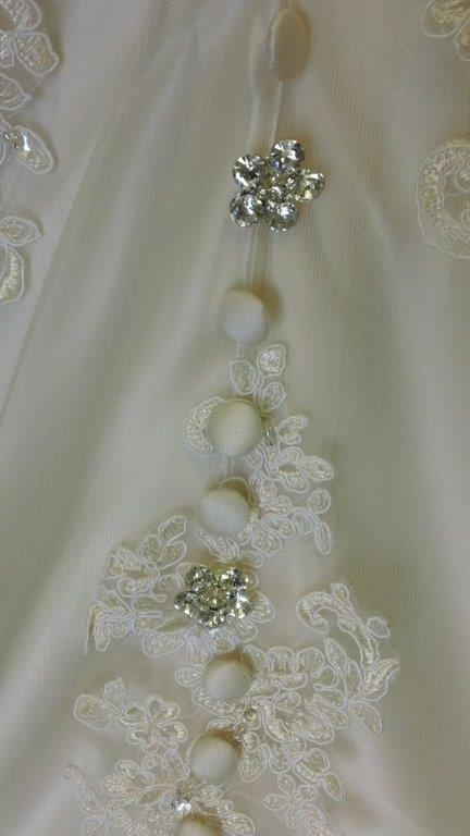 covered and jewel buttons