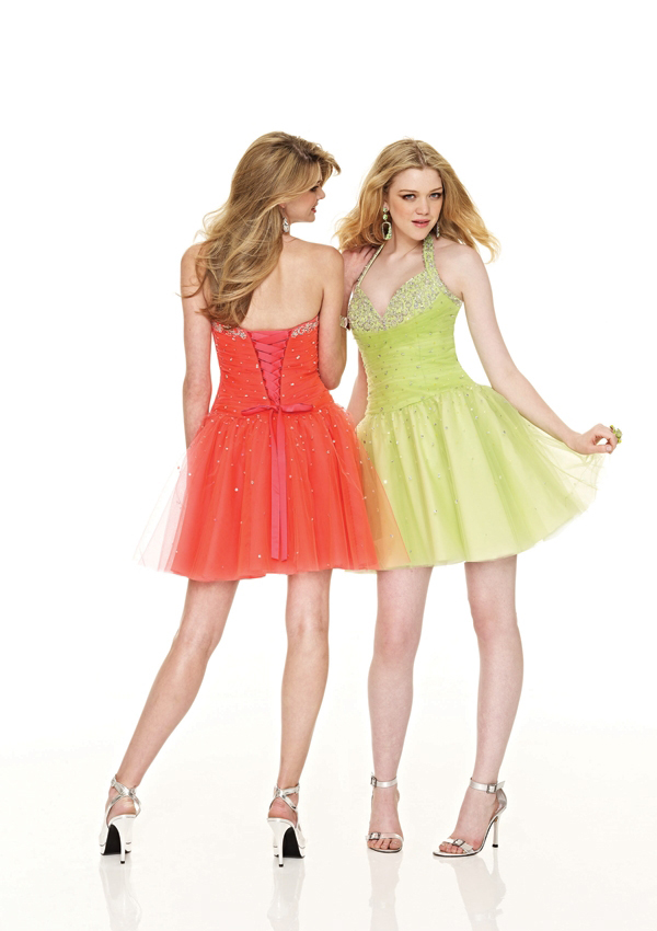 halter short Damas dresses