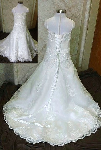 lace flower girl wedding gown