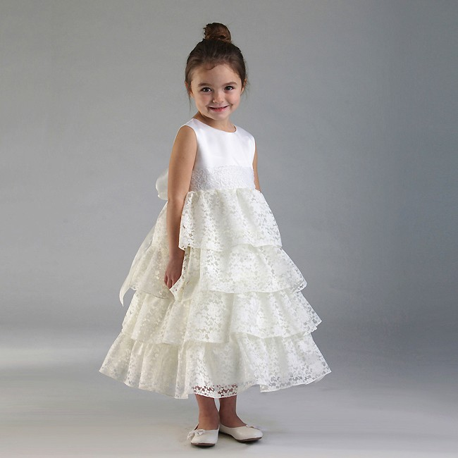 infant tiered lace dress