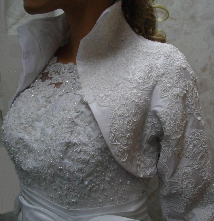 lace dress with jacket