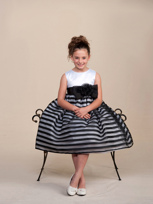 Girls black and white Easter dresses