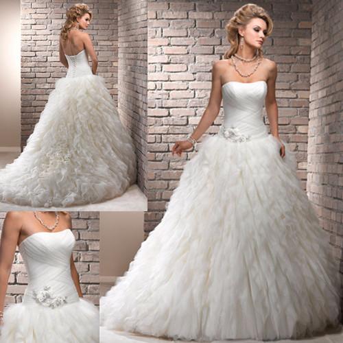 Ruffled Ball Gown Wedding Dress: Ruffle Wedding Dresses. Wedding Dress Ruffle Style Gowns
