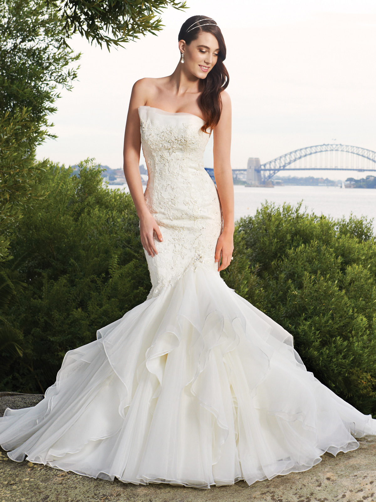 lace and organza wedding dress