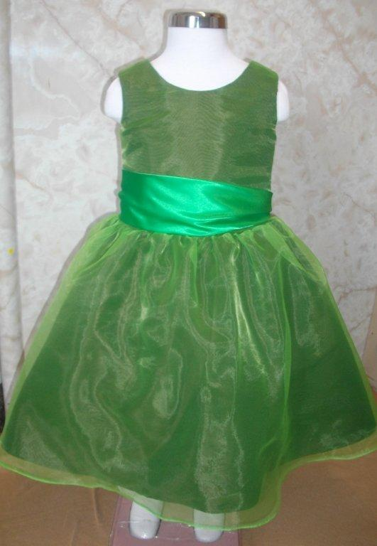 lime green childs organza dress