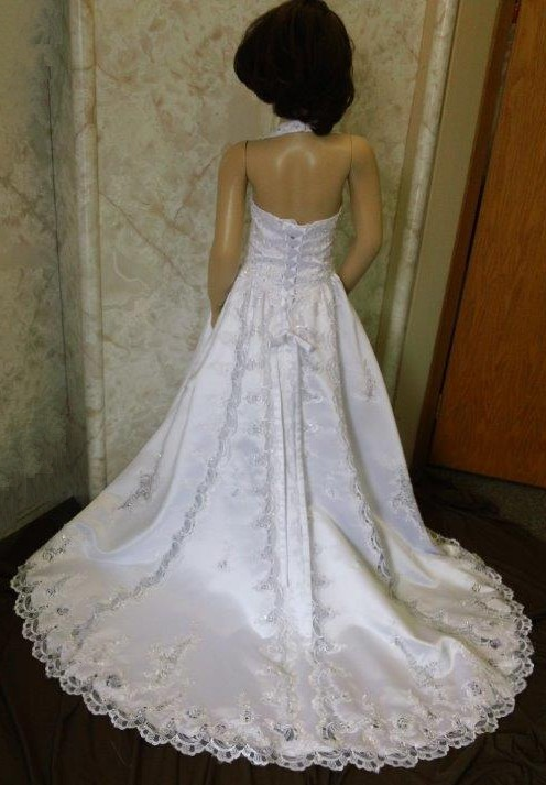 Cut work lace wedding dresses for flower girls