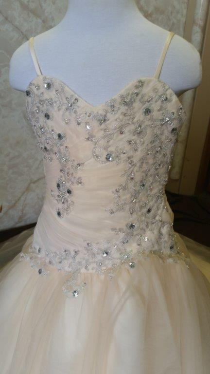 infant sweetheart wedding gown
