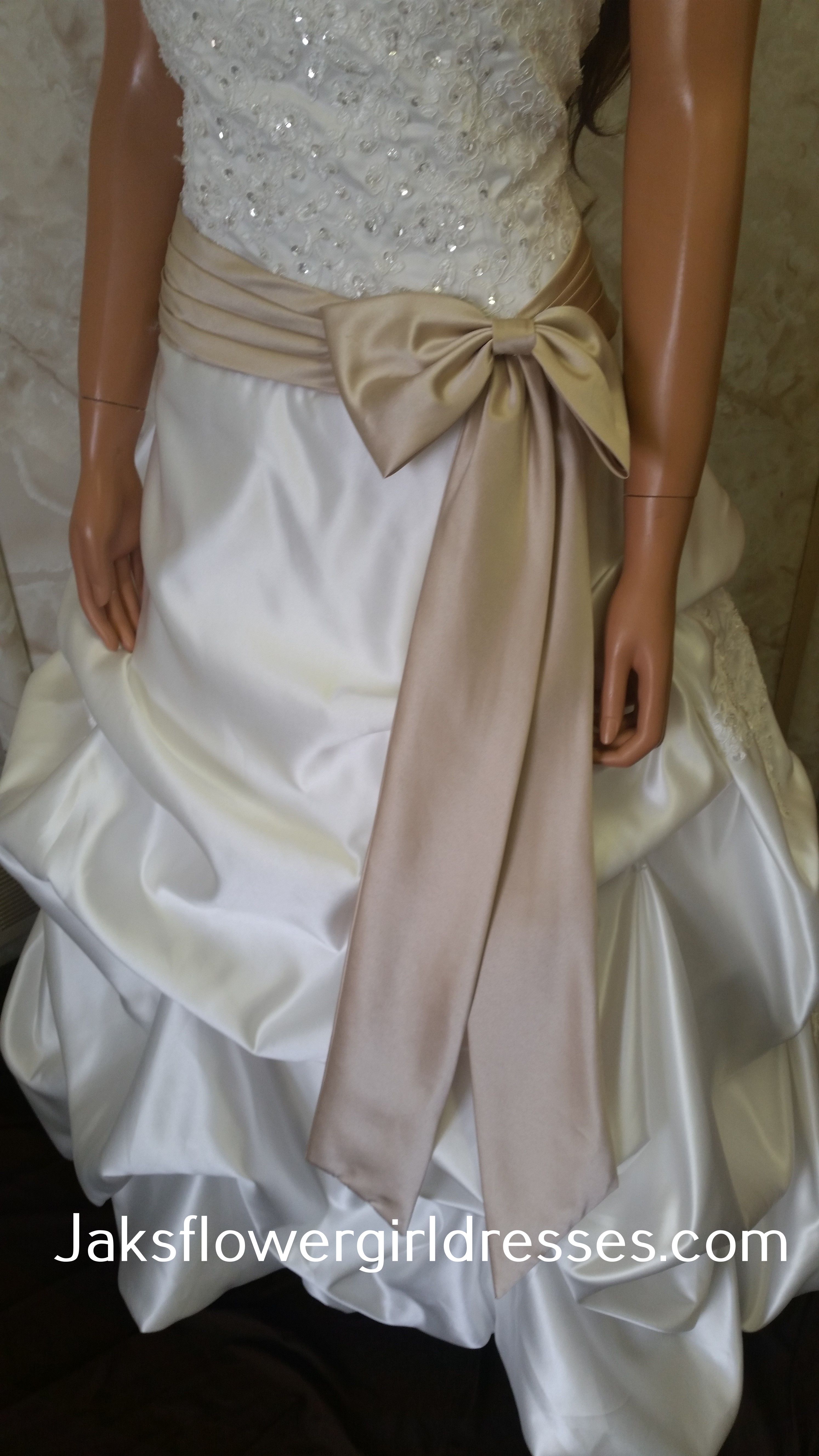 ivory champagne wedding gown