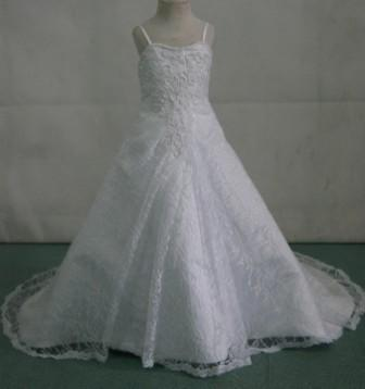 beaded lace miniature bridal gown