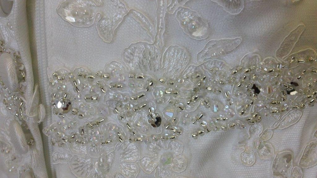 sequin and bead waist